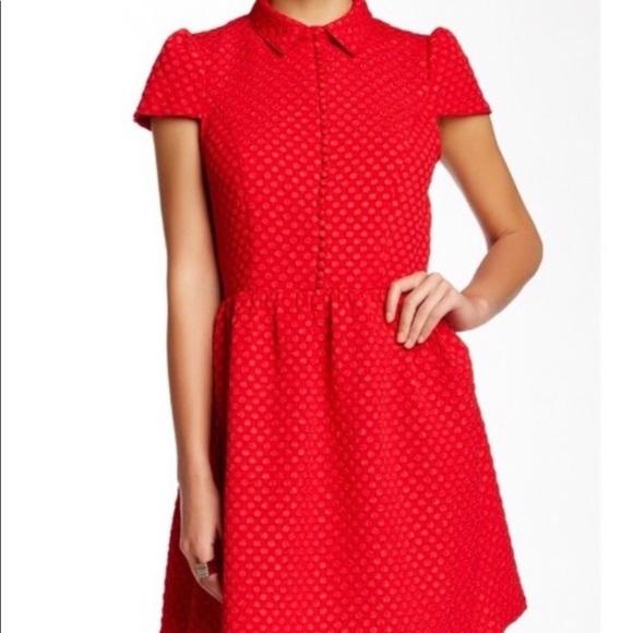 Kensie Dresses & Skirts - Macy's Go Red Kensie Textured Dot Dress, Medium